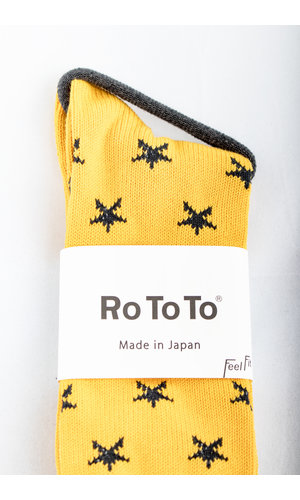 RoToTo RoToTo Sock / Star Socks / Yellow
