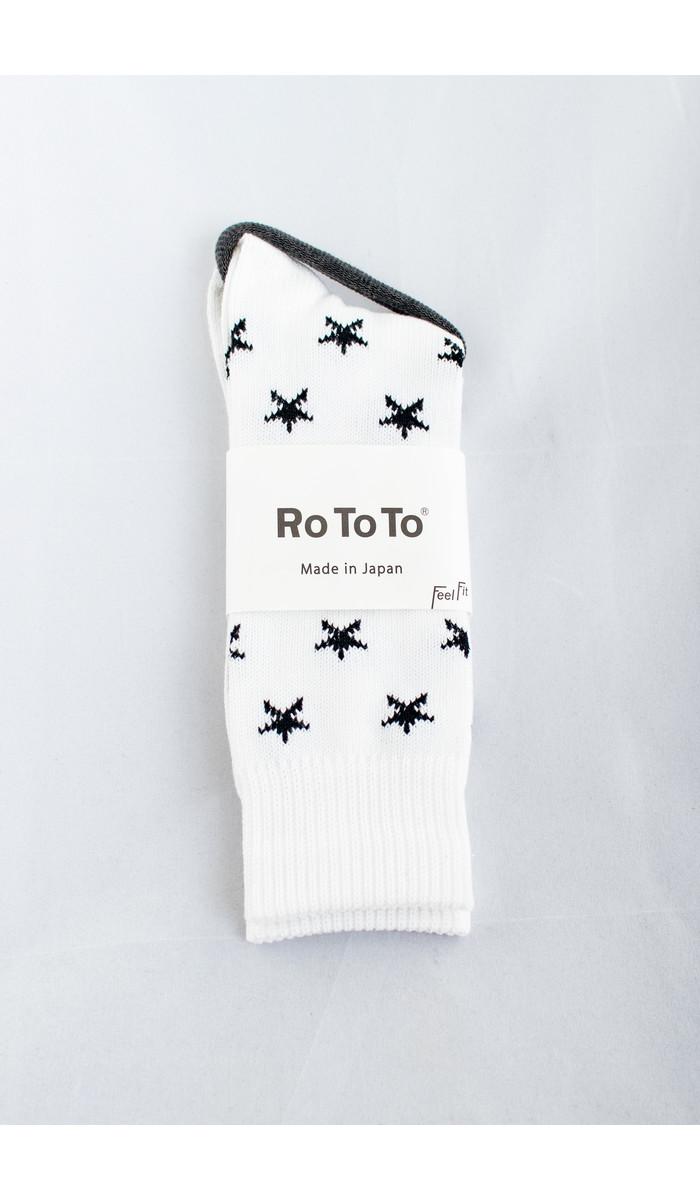 RoToTo RoToTo Sok / Star Socks / Wit