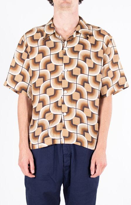 Delikatessen Delikatessen Overhemd / Short Sleeve / Bruin