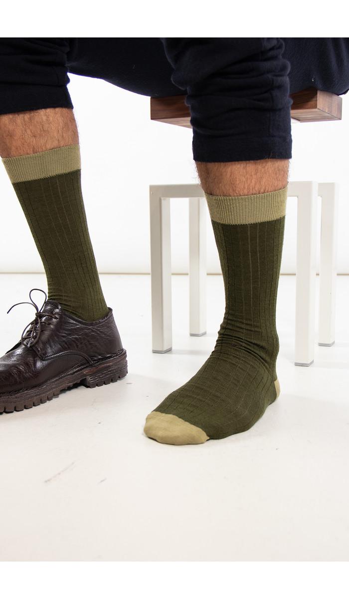 Universal Works Universal Works Sok / Classic Sock / Groen