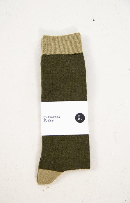 Universal Works Universal Works Sock / Classic Sock / Green