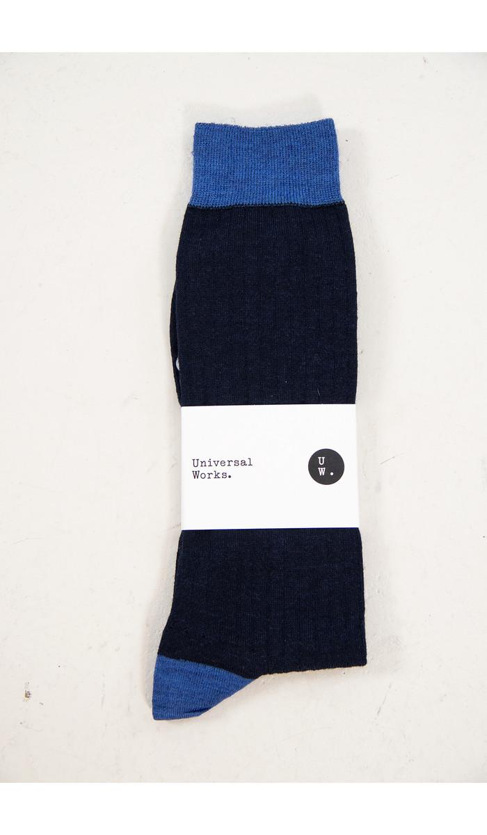 Universal Works Universal Works Sok / Classic Sock / Navy