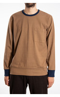 Universal Works T-Shirt / College Loose / Brown