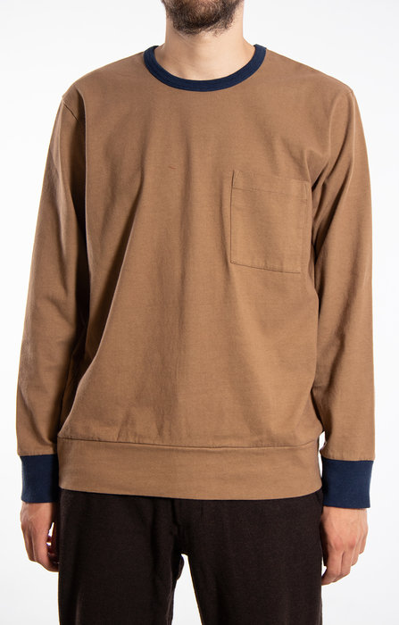 Universal Works Universal Works T-Shirt / College Loose / Brown