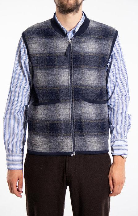 Universal Works Universal Works Vest / Waistcoat / Blauw