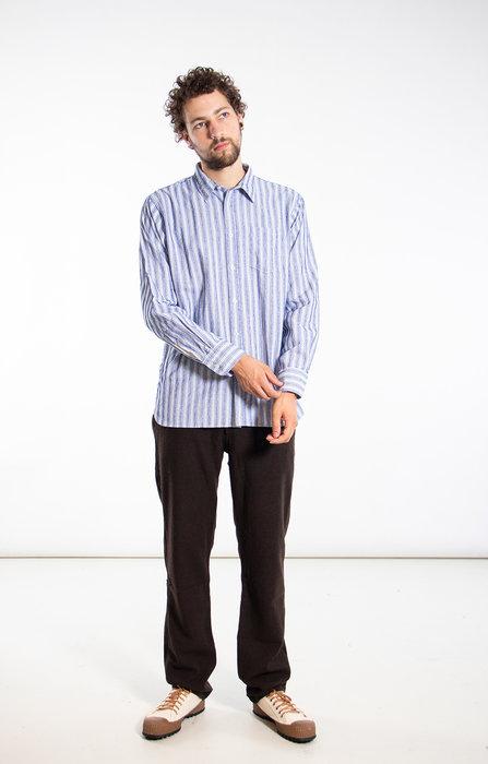 Universal Works Universal Works Overhemd / New Standard / Blauw