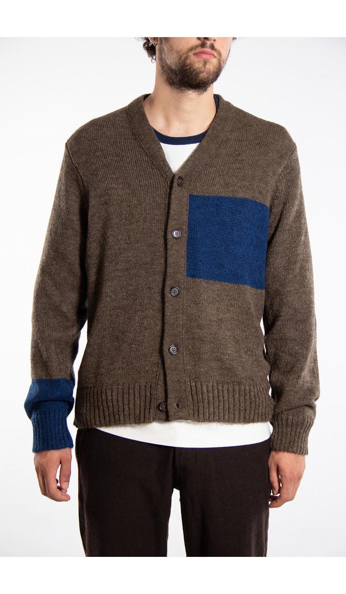 Universal Works Universal Works Vest / Stripe Cardigan / Blue