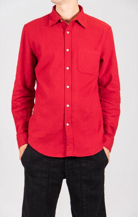 Portuguese Flannel Portuguese Flannel Overhemd / Teca / Rood