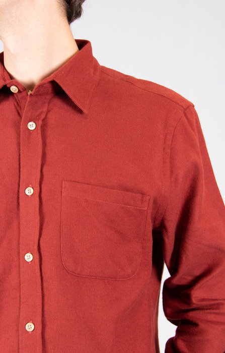 Portuguese Flannel Portuguese Flannel Overhemd / Teca / Barbera
