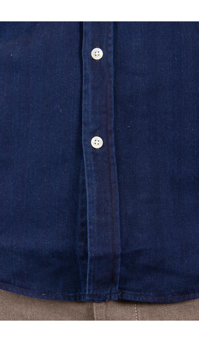 Portuguese Flannel Portuguese Flannel  Shirt / Herringbone / Indigo