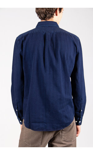 Portuguese Flannel Portuguese Flannel  Overhemd / Herringbone / Indigo