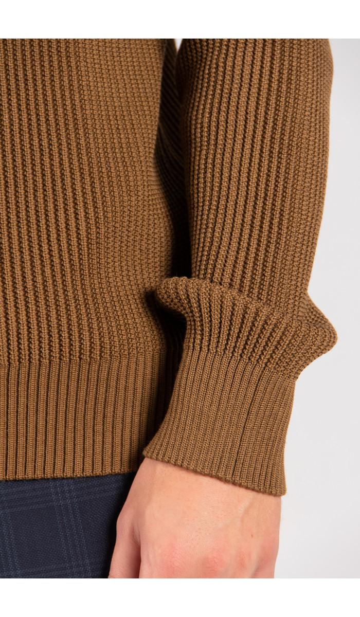 S.N.S. Herning S.N.S. Herning Sweater / Fender S. Zip / Gold Brown