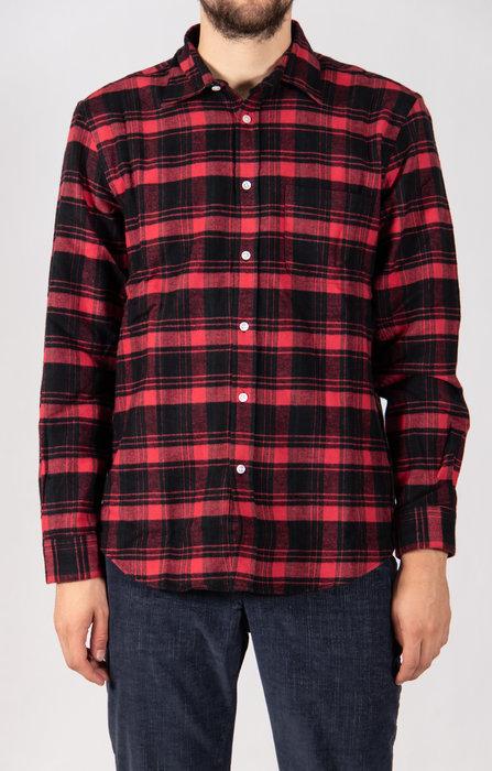 Portuguese Flannel Portuguese Flannel Overhemd / Pink Panter / Zwart Rood