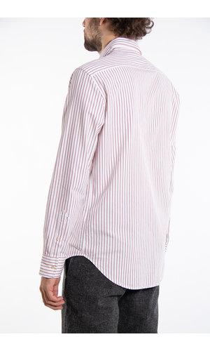 7d 7d Shirt / Pencil Stripe / Burgundy