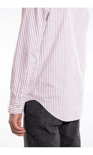 7d 7d Overhemd / Pencil Stripe / Bordeaux