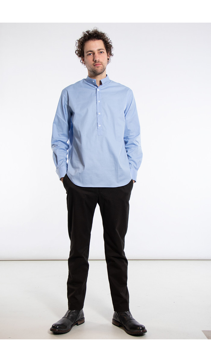 Yoost Yoost Shirt / Mandarin Collar / Blue