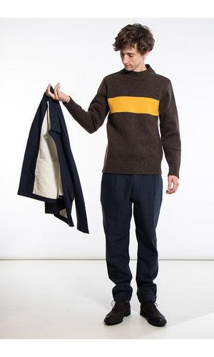 Universal Works Universal Works Sweater / Chest Stripe / Brown