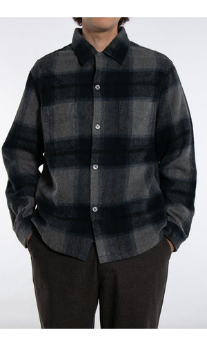 Our Legacy Our Legacy Overshirt / Heusen / Grey Blue