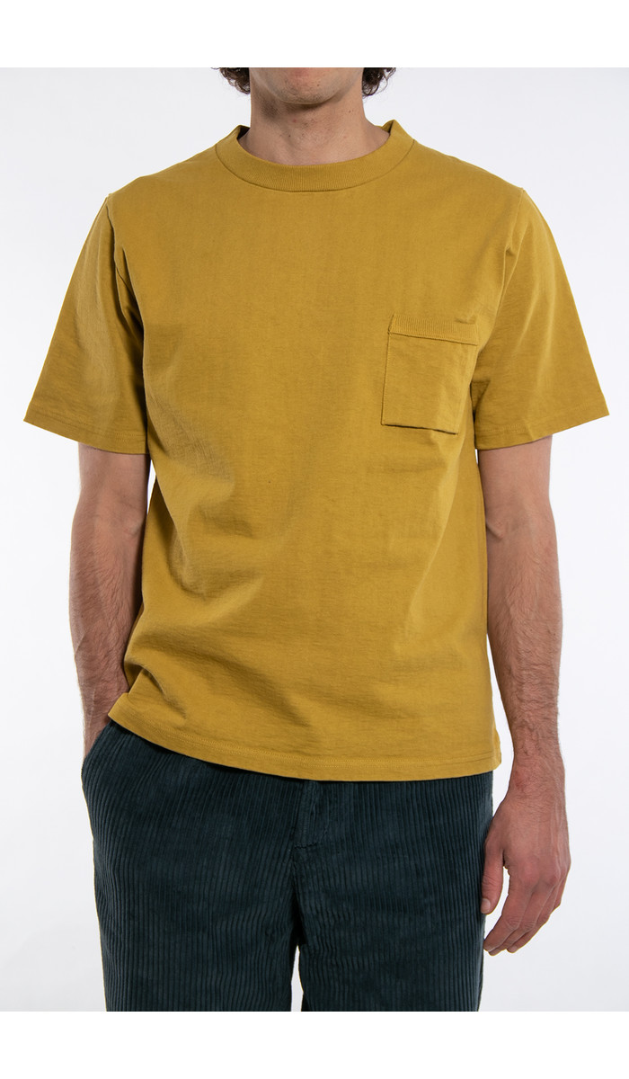 RoToTo Jackman T-Shirt / Pocket / Mosterd