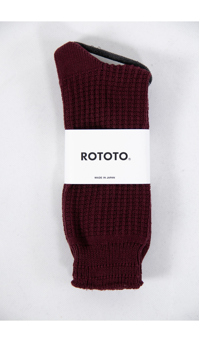 RoToTo RoToTo Sock / Waffle / Burgundy