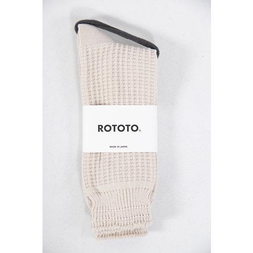 RoToTo RoToTo Sock / Waffle / Ecru