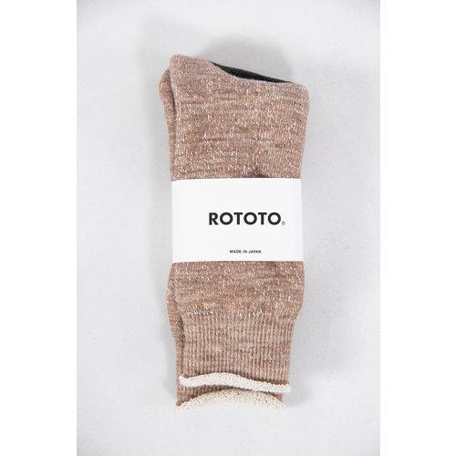 RoToTo RoToTo Sock / Double Face / Camel