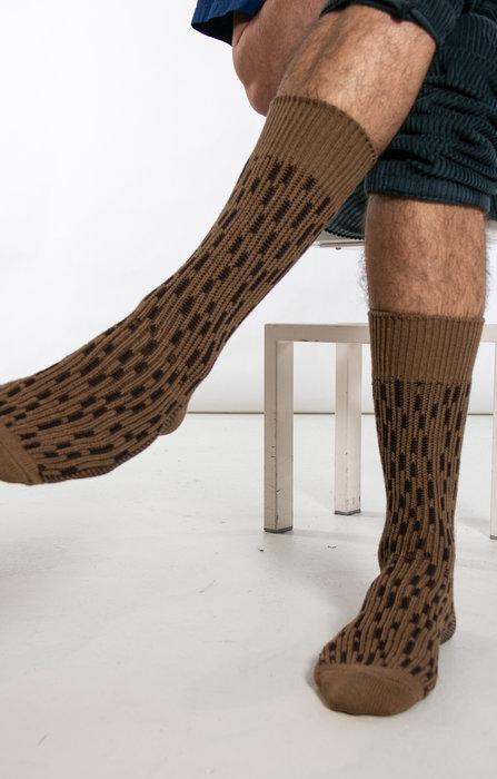 RoToTo RoToTo Sock / Rain Drop / Brown
