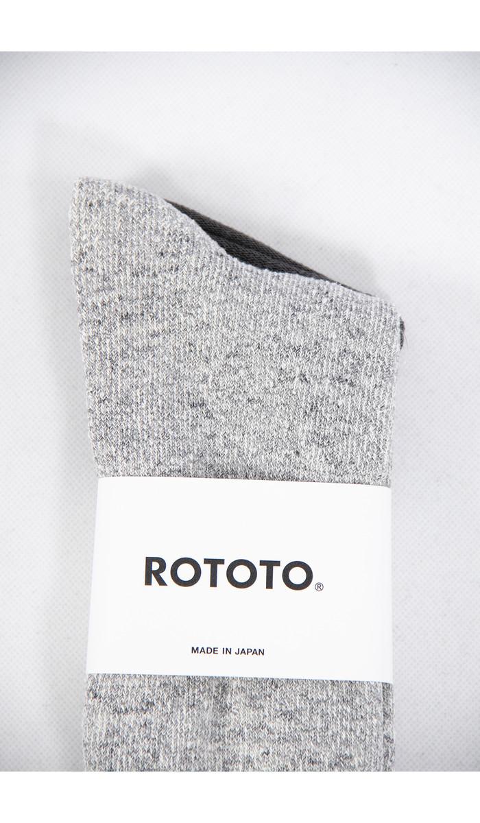 RoToTo RoToTo Sock / Double Face / Grey Red