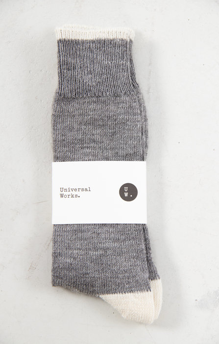 Universal Works Universal Works Sock / Alpaca / Grey