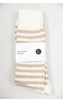 Universal Works Sok / Stripe Sock / Ecru