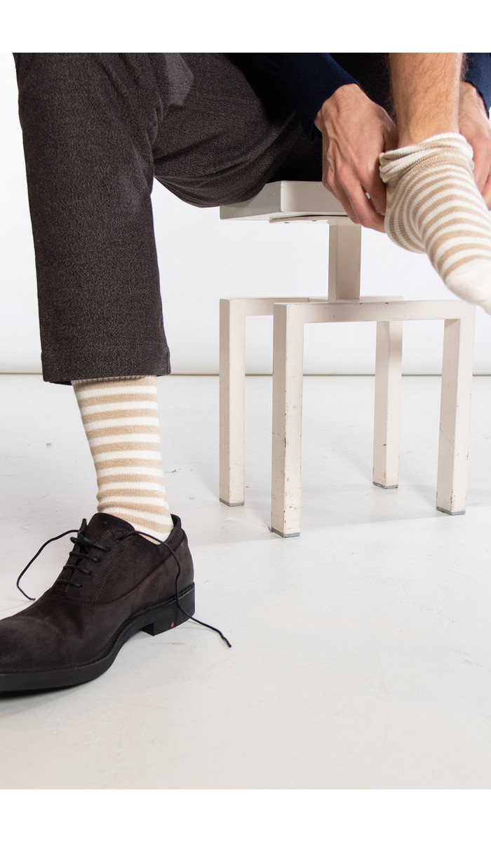 Universal Works Universal Works Sok / Stripe Sock / Ecru