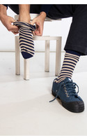 Universal Works Sock / Stripe Sock / Navy