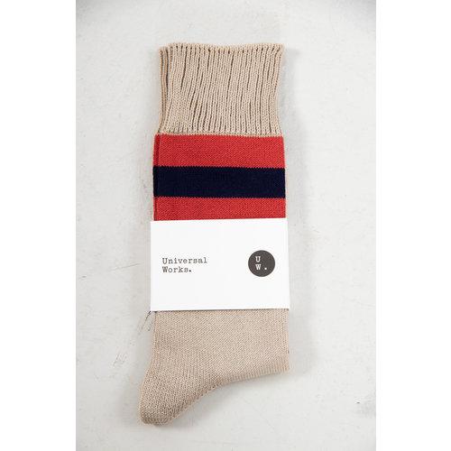 Universal Works Universal Works Sock / Sport Stripe / Navy