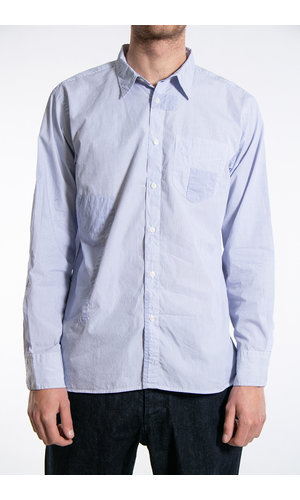Universal Works Universal Works Overhemd / Patch Shirt / Navy