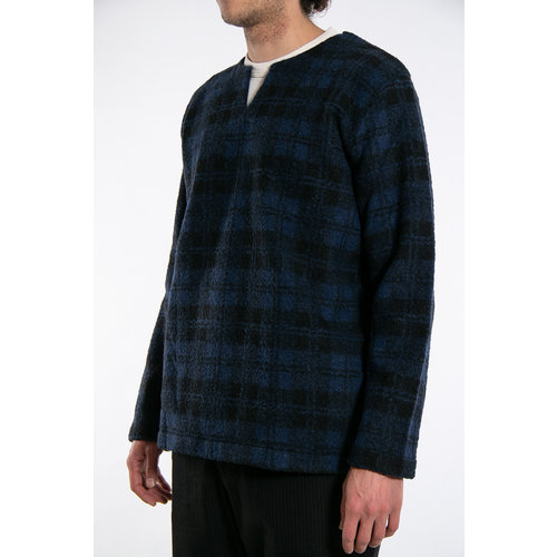 Universal Works Universal Works Sweater / Split Neck / Navy