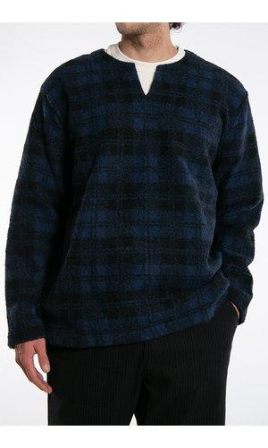 Universal Works Universal Works Sweater / Split Neck / Navy