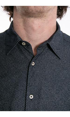 7d 7d Overhemd / Flannel Stripe / Navy