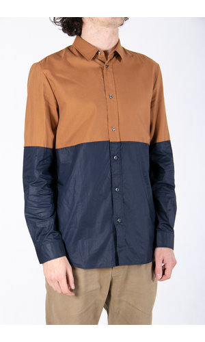 Margiela Shirt / Two Tones / Brown Navy