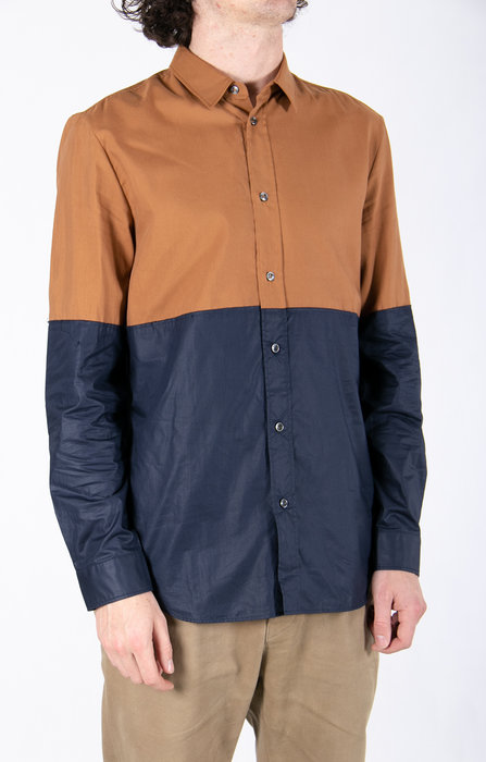 Margiela Shirt / Two Tones / Brown Navy