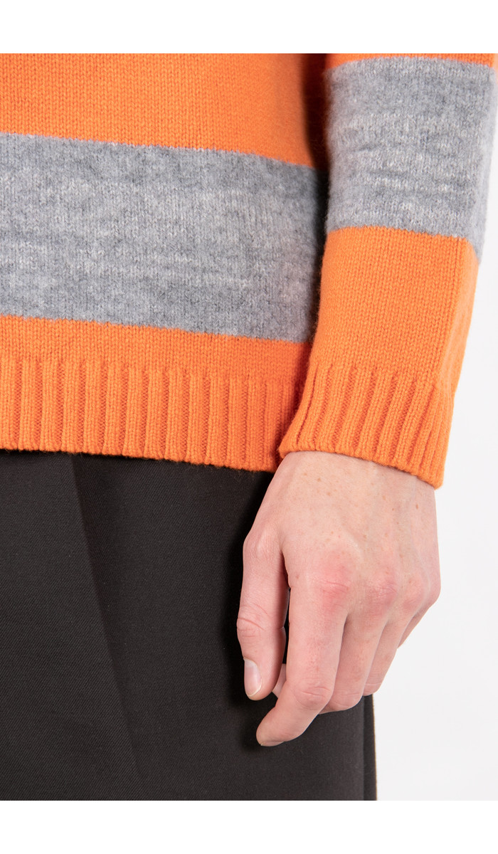Country of Origin Sweater / Golden Days Boucle Stripe / Orange