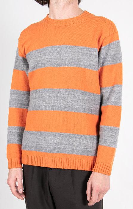 Country of Origin Sweater / Golden Days Boucle Stripe / Orange
