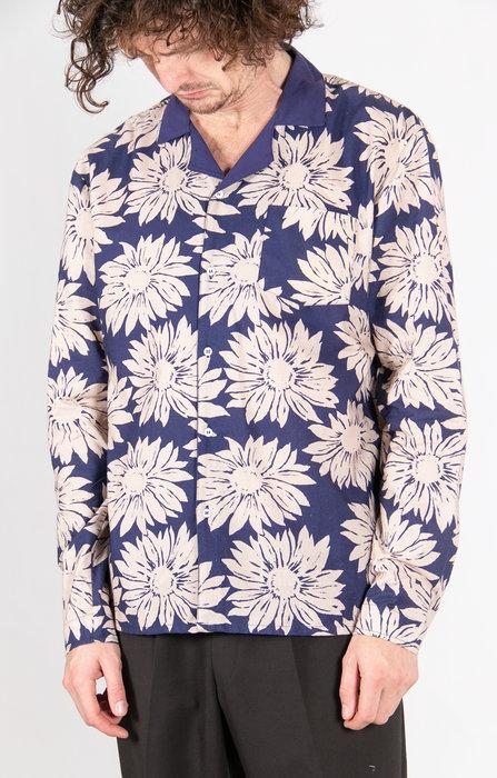 Fox Haus Fox Haus Overhemd / Sunflower / Blauw