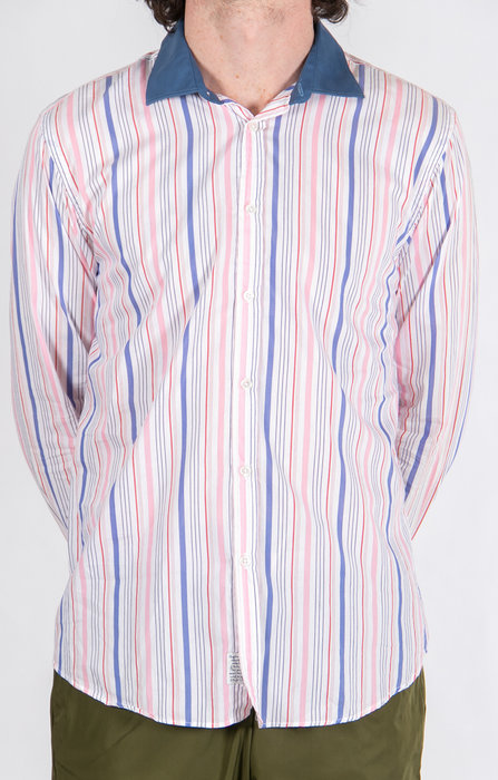 Alessandro Gherardeschi Overhemd / Funny Stripe / Roze