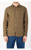 Portuguese Flannel Shirt / Linen / Olive