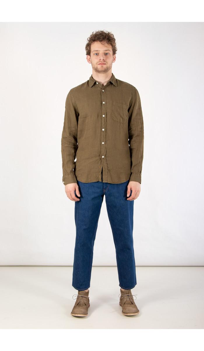Portuguese Flannel Portuguese Flannel Overhemd / Linen / Olijf