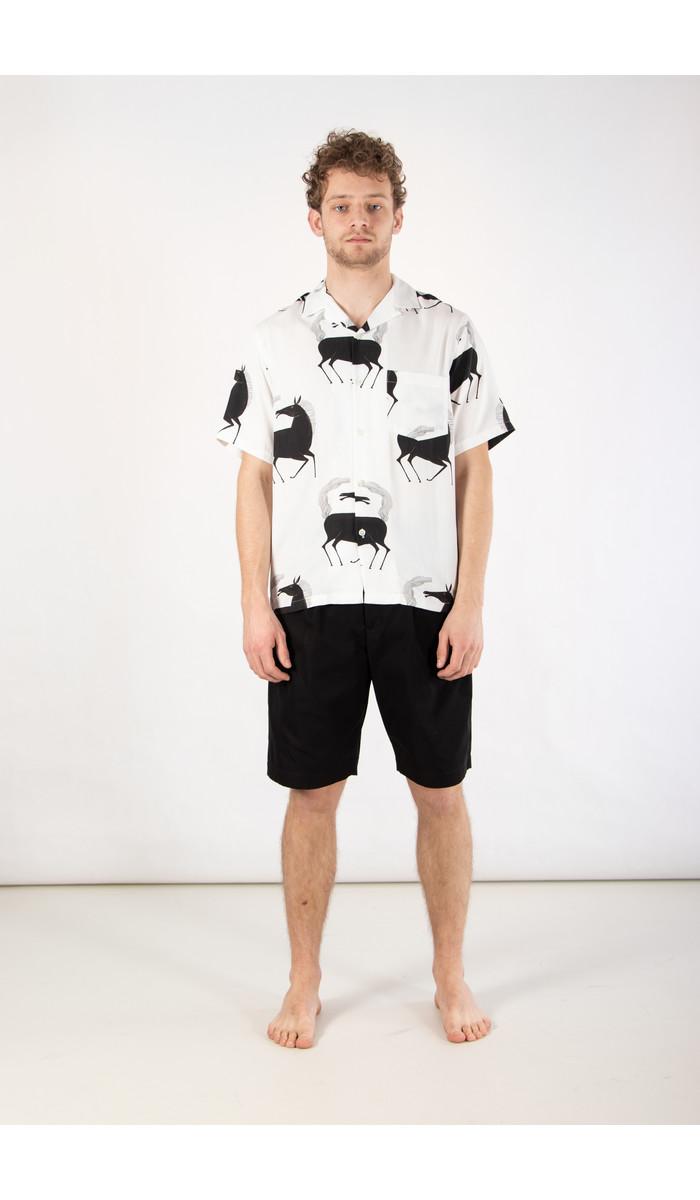 Portuguese Flannel Portuguese Flannel Shirt / Horse / White