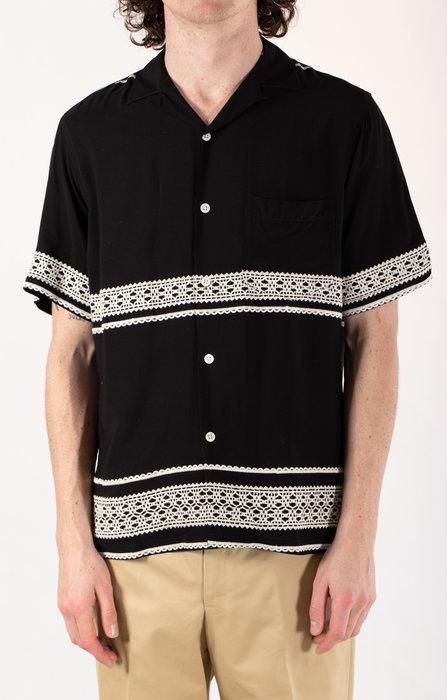 Portuguese Flannel Protuguese Flannel Overhemd / Folclore 1 / Zwart