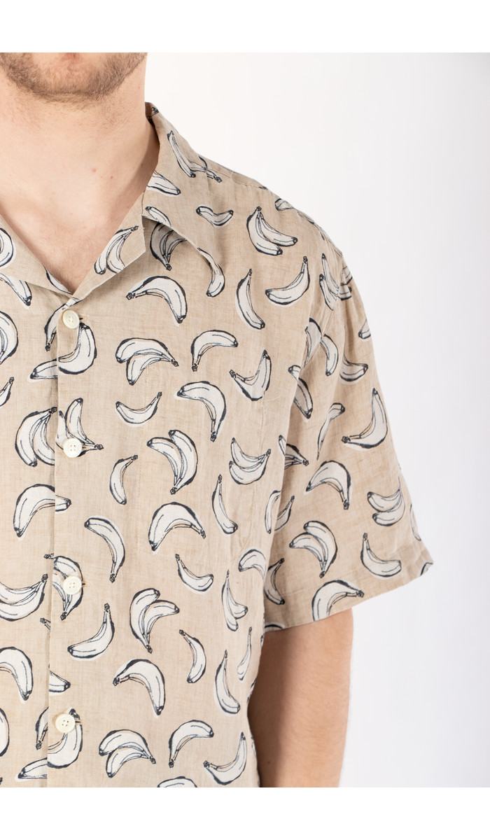 Delikatessen Delikatessen Overhemd / Short Sleeve / Banaan