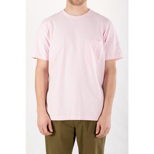 Universal Works Universal Works T-Shirt / Big Pocket / Pink