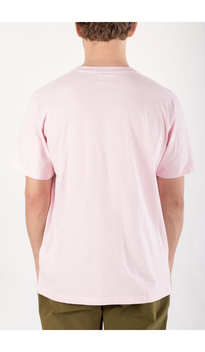 Universal Works Universal Works T-Shirt / Big Pocket / Roze